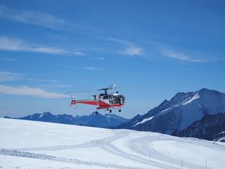 whirlybird copter at Jungfraujoch Top of Europe Switzerland