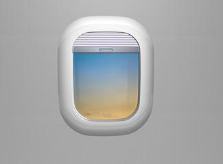 Porthole. Airplane window