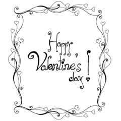 Valentine's day text in handwriting