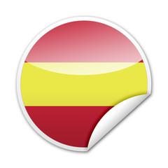 Pegatina bandera España con reborde