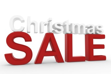 3d High resolution image Christmas sale sign