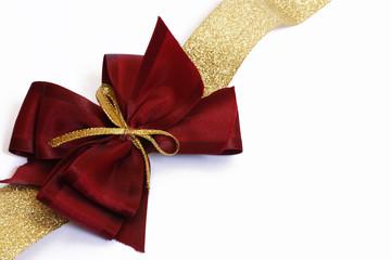 fiocco per pacchi regali porpora e oro