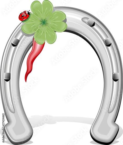 Ferro di cavallo porta fortuna horseshoe vector immagini - Il geco porta fortuna ...