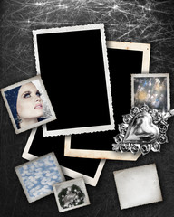 Silver background with frames