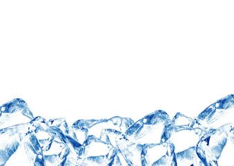 Foto op Canvas In het ijs Eiswürfel A3 Quer