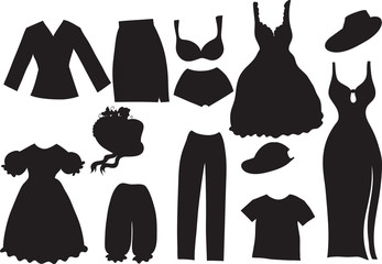 silhouettes of women clothes