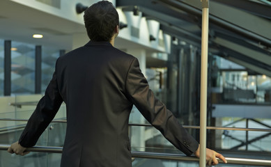 The young businessman in the workplace