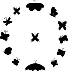 BLACK BUTTERFLY SILHOUETTES