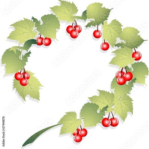 Ramo Ciliegie Cornice Cherry Frame Vector Immagini E Vettoriali