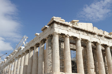 Parthenon in Acropolis, Greece.