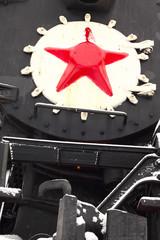 Papiers peints Rouge, noir, blanc old Soviet locomotive
