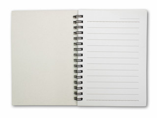 paper notebook with lines for texts