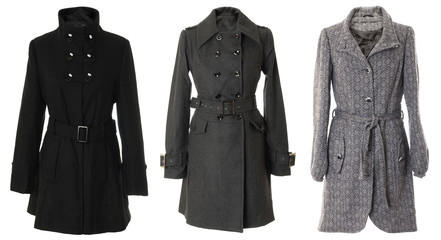 Female overcoats | Isolated
