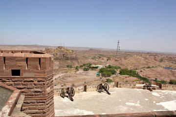 View of an old castle in india