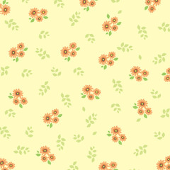 flower background yellow 3