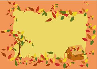 Autumn frame (vector)