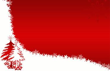 Weihnachtsbaum, xmas, rot, weiss
