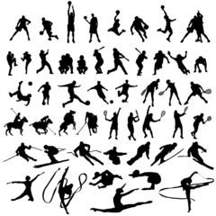 Colección de siluetas de deportistas