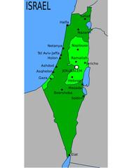 Carte des Villes Principales d'Israël