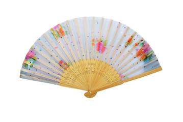 Wooden chinese hand fan.