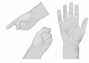 Three hands Gray