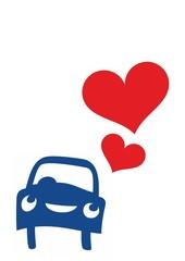 Auto verliebt
