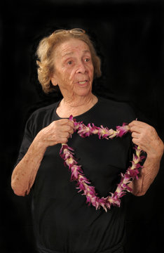 Grandma with lei