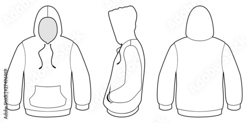 Line Art Xl 2010 : Quot hooded sweater template vector illustration stock image
