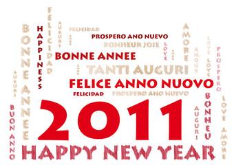 happy new year - spanish, french, italian