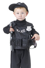 Police Toddler is ready to arrest someone