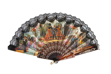 traditional asian fan isolated