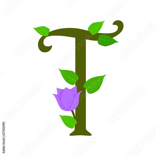 Plant Font Type Letter T Stock Image And Royalty Free Vector Files On Pic 27503090
