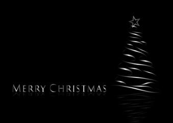 Abstract Silver Christmas Tree