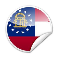 Pegatina bandera Georgia (USA) con reborde