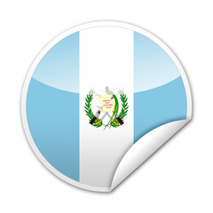 Pegatina bandera Guatemala con reborde