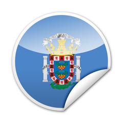 Pegatina bandera Melilla con reborde