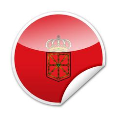 Pegatina bandera Navarra con reborde