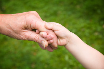 Holding Hands - Love between Child and Grandparent