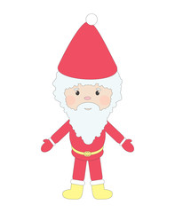 Vector illustration of Santa, isolated