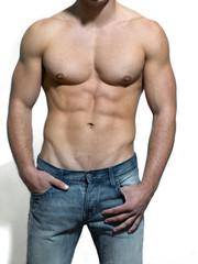 Torso eines nackten Mannes
