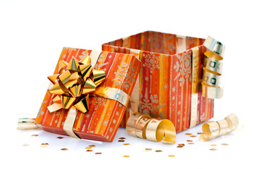 Cadeau de Noël ouvert