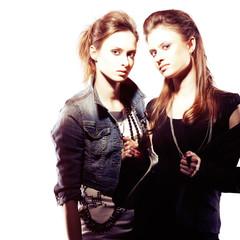 Irresistible female twins