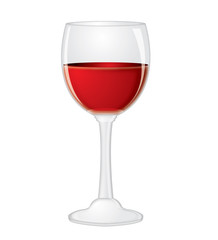 Glass with red wine on a isolated   background,vector