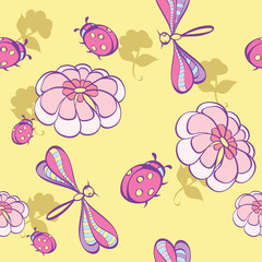 seamless background wint flowers