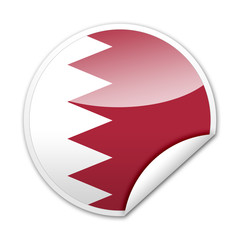 Pegatina bandera Bahrein con reborde