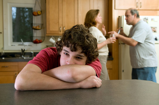 Son suffers as parents fight