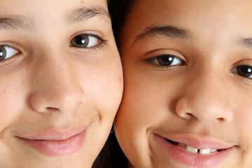 Children On White Background