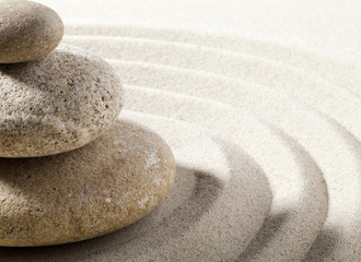 Poster Stones in Sand vague zen de sable et pierres