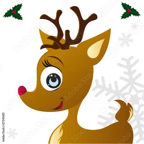 Rodolphe le renne du p re no l fichier vectoriel libre de droits sur la banque d 39 images - Image rennes noel ...