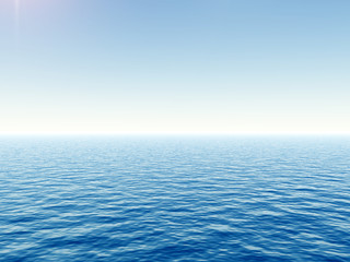 High resolution blue water and a clear sky